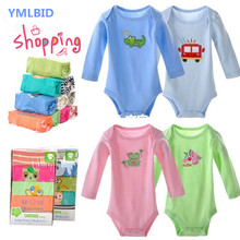 YMLBID DANROL 5pcs/lot Bodysuit Infant cotton cartoon