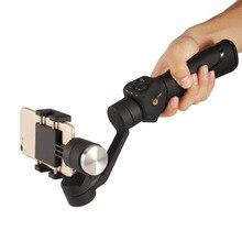 Три-мосты ручной шарниры стабилизатор с литий-ионный аккумулятор зарядное устройство смартфон для селфи Steadicam для 3.5 до 6.1 дюймов смартфон YU-200