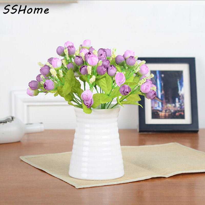 green artificial plants fake floral plastic silk flowers eucalyptus plant flowers office hotel table decor artificial - Violet Hotel Decor