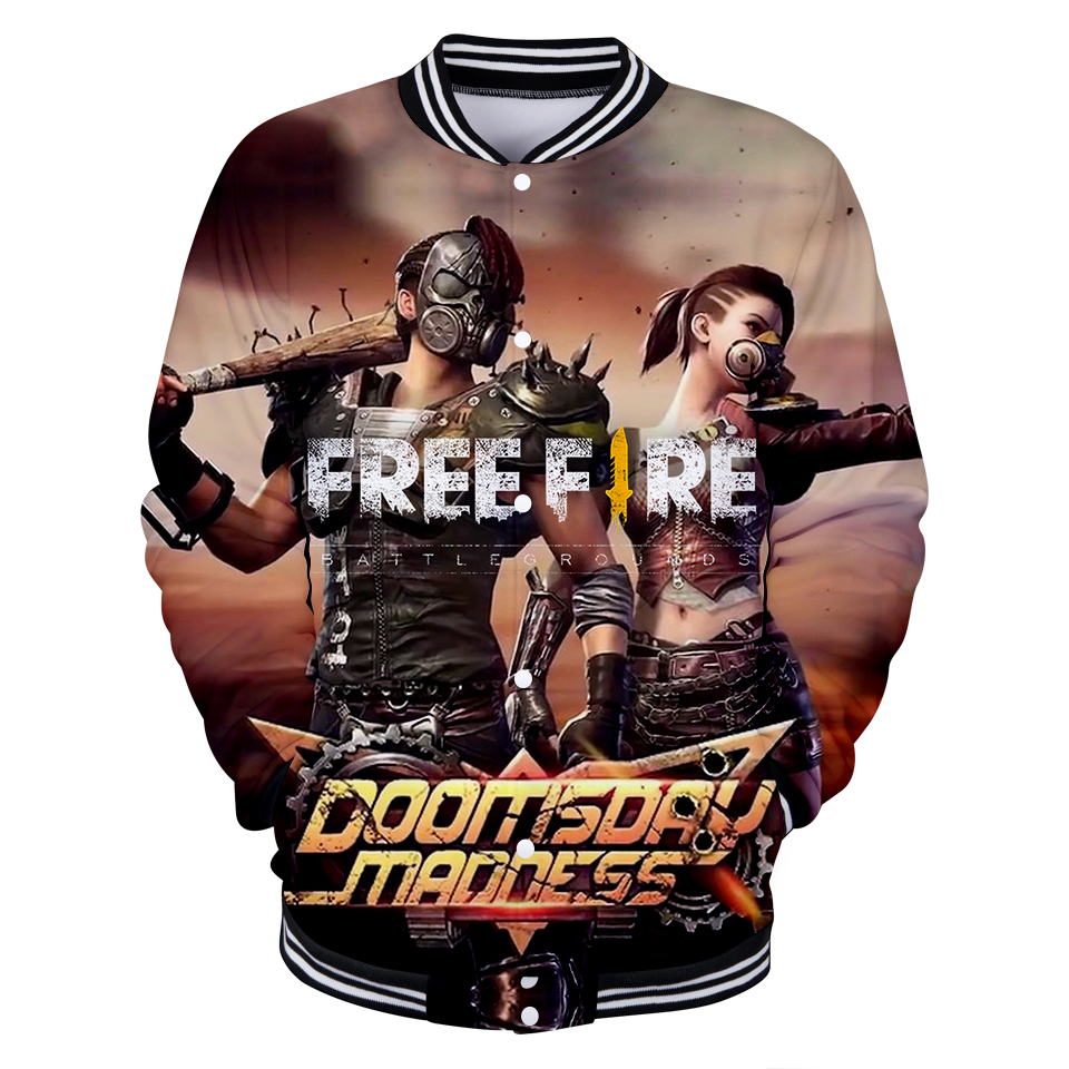 Us 137 40 Offfree Fire Shooting Game 3d Fashion Baseball Jacket 2018 Autumn Womenmen Popular Jacket Coats Casual Top Jacket Fashion Clothes In