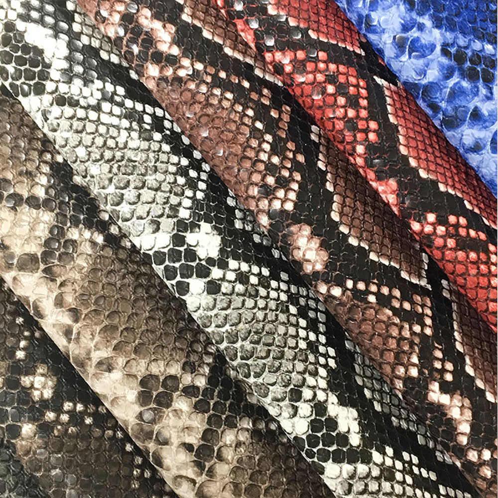 ลิ้นจี่ชีวิต DIY A4 Retro รูปแบบงู PU หนังผ้าคุณภาพสูงสังเคราะห์หนังเย็บวัสดุ