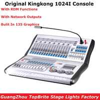 Kingkong KK-1024i Professional DMX Controller 1024 DMX Channels Built In 135 Graphics Stage Lighting DMX512 Console Equipments