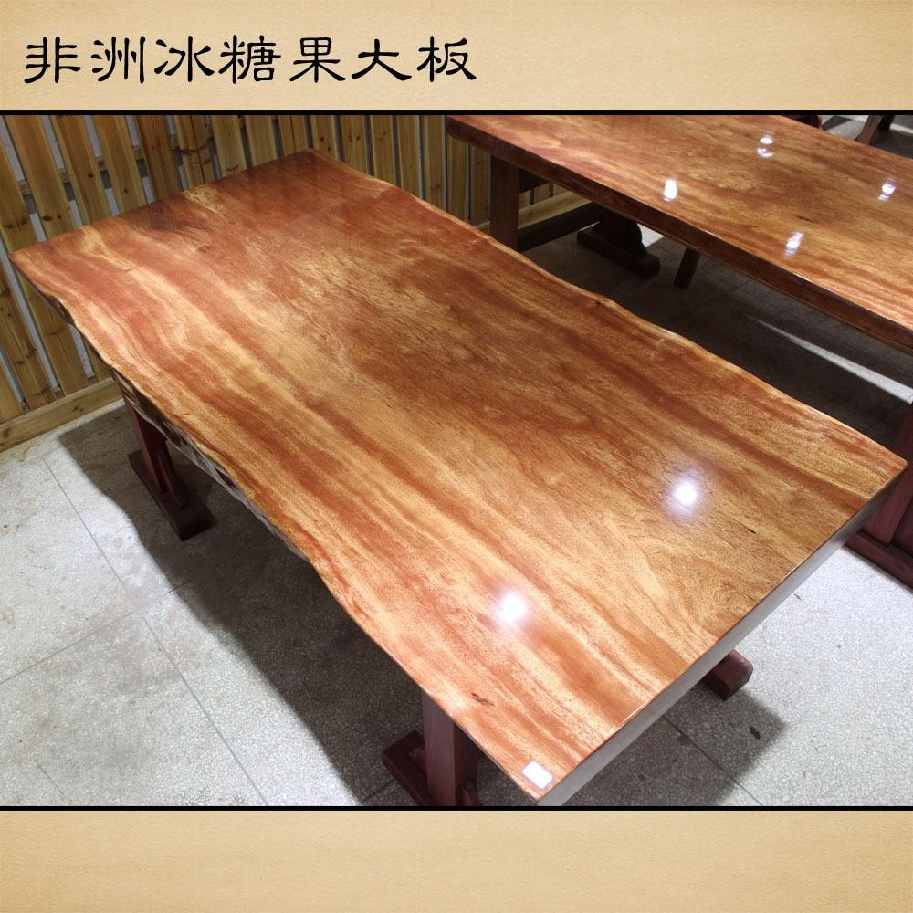 African Rock Candy Fruit Wooden Slab Tables Original Wood
