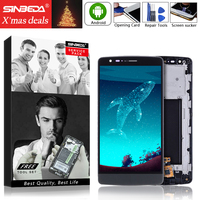 Sinbeda 5.0 IPS LCD Screen For LG G3 S G3 Mini D722 D725 D728 D724 D722K LCD Display+ Touch Screen Digitizer+Frame assembly