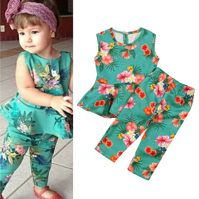 2019 Cute Printed Baby Girl Elastic Jumpsuit One-piece Garment With Headdress Flower Casual Kids Childrens Clothing Suit Girls' Baby Clothing Bodysuits