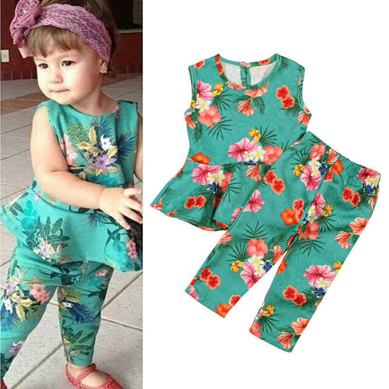 4a87850dd64f Detail Feedback Questions about 2018 New Summer Girls Clothing Set ...