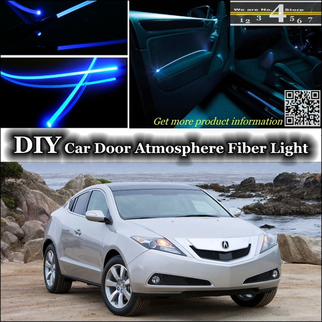 For Acura ZDX Interior Ambient Light Tuning Atmosphere Fiber Optic Band  Lights Inside Door Panel Illumination