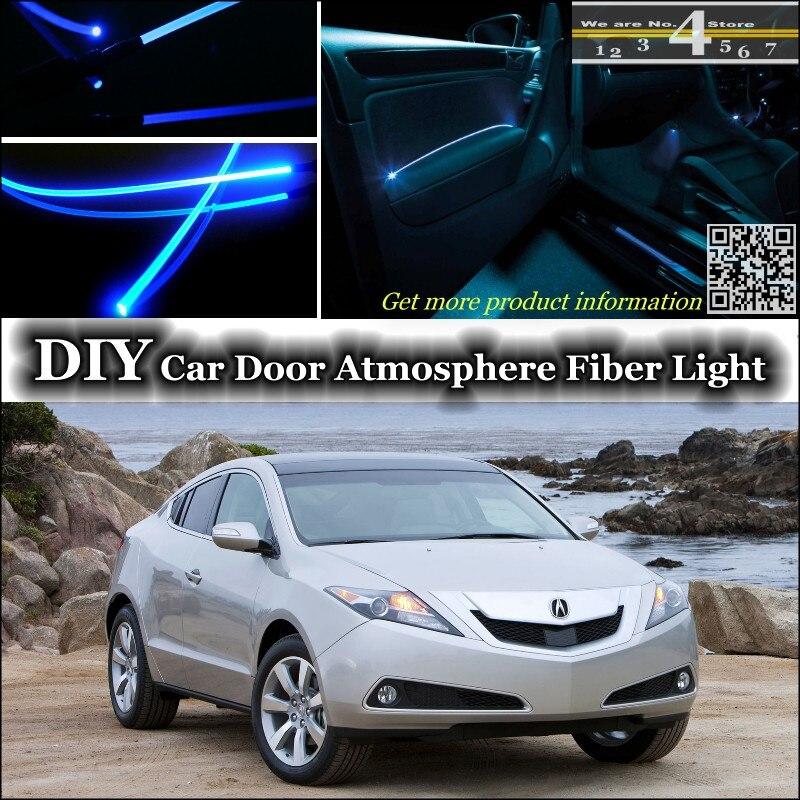 For Acura ZDX interior Ambient Light Tuning Atmosphere Fiber Optic Band Lights Inside Door Panel illumination Not EL light