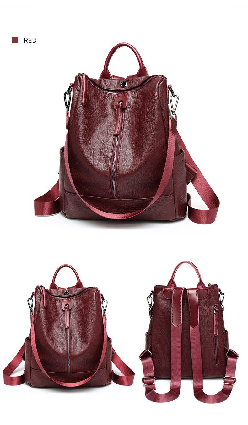 HTB15b8QbvvsK1Rjy0Fiq6zwtXXan Female backpack mochila feminina casual Multifunction Women Leather Backpack Female Shoulder Bag Sac A Dos Travel Back Pack