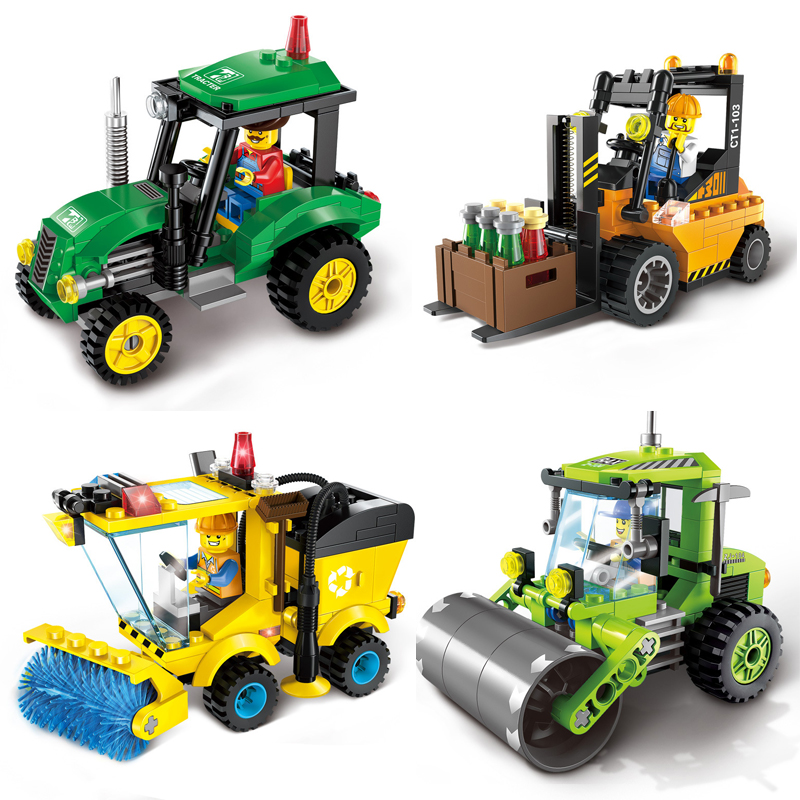 City Series Forklift Truck Building Blocks Compatible with Blocks City Construction Blocks DIY Toy for Children Gift linde forklift lindos truck diagnostic software