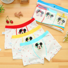 3 pcs/lot Minnie Childrens cotton underwear female cartoon printed baby girls boxer briefs underpanties 3-11T