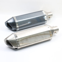 51MM Inlet Universal Motorcycle Modified Exhaust Muffler Scooter Racing Akrapovic Carbon Fiber 600CC For Most Motorbike