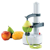 High quality Electric spiral Apple Peeler Cutter Slicer Fruit Peeling Automatic Battery Operated Machine with charger eu plug