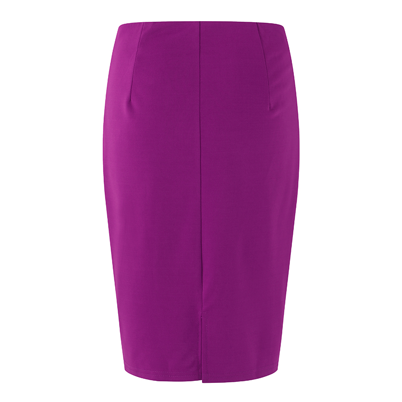 efcc0f417 2018 Summer Autumn Women Skirts Plus Size High Waist Work Slim Feminine  Pencil Skirt Spilt Sexy Office Lady Skirts S-5XL