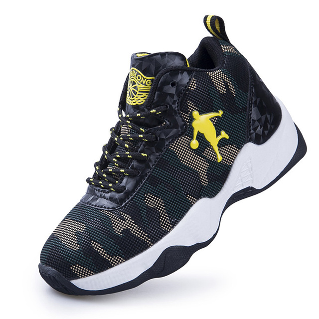 Boys Basketball Shoes High Quality Thick Sole Non-slip Outdoor Kids Sneakers Footwear Rubber Children Sports Shoes Basket 2018