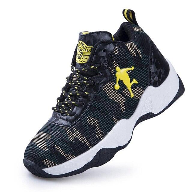 2e743bf99dab8 Garçons chaussures de Basket-ball de haute qualité semelle épaisse  antidérapant en plein air enfants