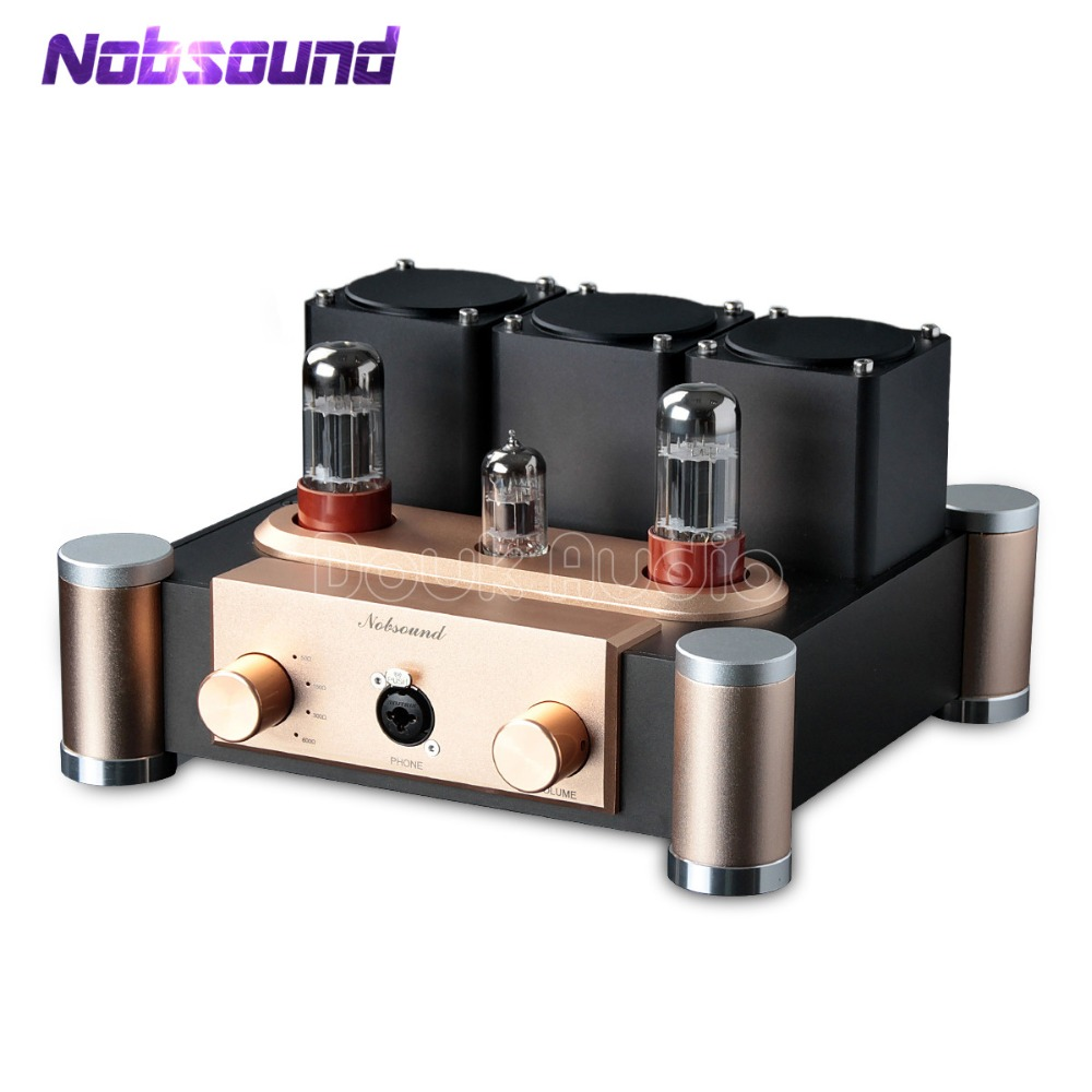 Nobsound Hi-end 6SN7 + ECC83 amplificateur de Tube de Valve HiFi préamplificateur de bureau monofin classe A ampli casque