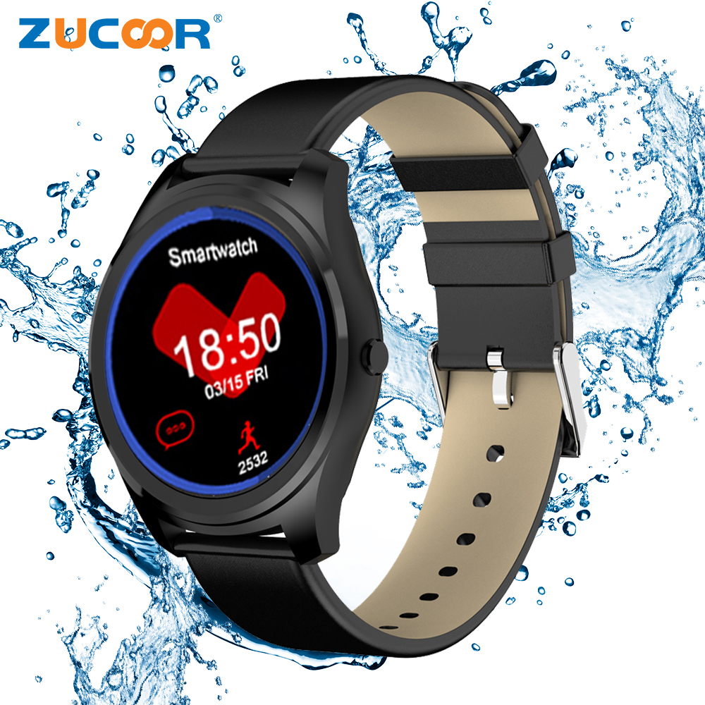 ZUCOOR font b Smart b font Watch Smartwatch Z4 Fitness Tracker Relojes Smartphone Heart Rate Monitor