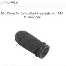 Linhuipad 5 sztuk lotnictwa miękka pianka mikrofon szyby przedniej osłony mikrofonu gąbka przedniej szyby zmieścić się na David Clark M 7 zestaw słuchawkowy z mikrofonem