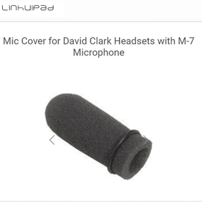 Linhuipad 5pcs Aviation soft foam mic windscreen microphone covers Sponge windshield fit on David Clark M-7 headset microphone
