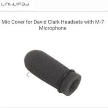 Linhuipad 5pcs Aviation soft foam mic windscreen microphone covers Sponge windshield fit on David Clark M 7 headset microphone