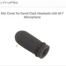 5 pcs Aviation Linhuipad lembut busa mic mikrofon meliputi Spons windshield kaca depan fit pada David Clark M-7 headset mikrofon(China)