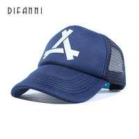DIFANNI New Summer Baseball Mesh Cap Snapback Dad Hat Fashion Polo Trucker Adjustable Hat Hip