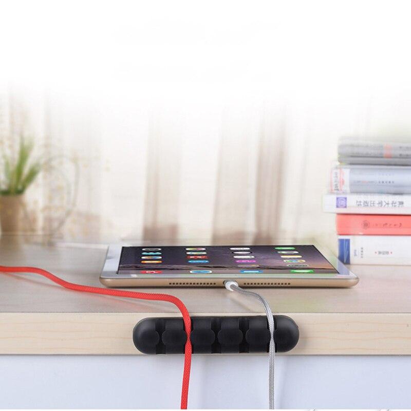 Image 4 - Suntaiho Кабельный органайзер силиконовый usb кабель намотка случайный цвет вставной наушник держатель шнур мышки для iPhone usb кабель для Samsung-in Органайзеры для кабелей from Мобильные телефоны и телекоммуникации on AliExpress