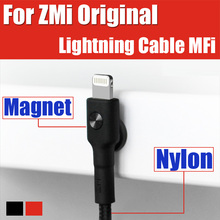 AL803 XiaoMi ZMi Original Nylon Weave magnetic quick charge ios12 cable for apple lightning cable mfi iphone 5s 6 7 8 plus X
