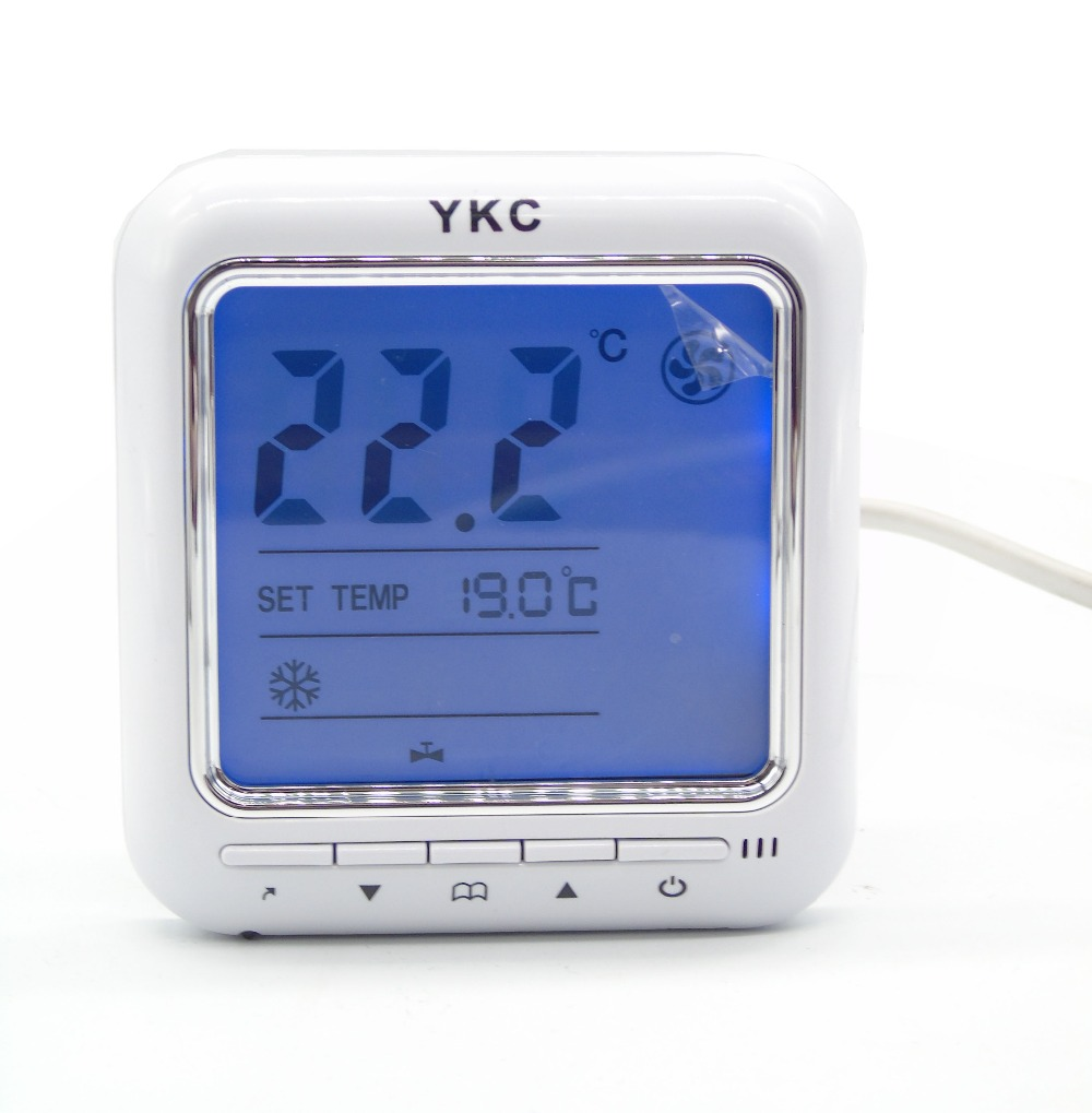 Differential Temperature 0.5degree 2 pipe Timer off fan coil thermostat with control 2-3 line valves