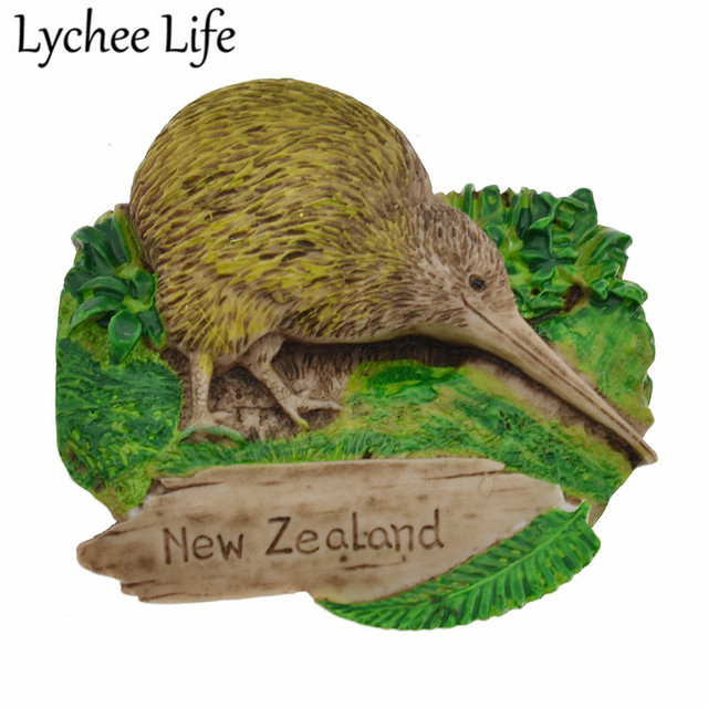 Lychee Life New Zealand Scenic Refrigerator Magnetic Sticker Simulation Nestling Fridge Magnet Gift Modern Home Kitchen Decor