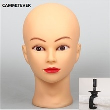 CAMMITEVER Mannequin Head with Holder Hairdress Doll Female Plastic For Wigs