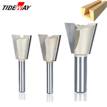 Tideway 1/2 1/4 Shank Industrial Grade Wood Cutter Dovetail Router Bits for wood Tungsten Engraving Tool Milling