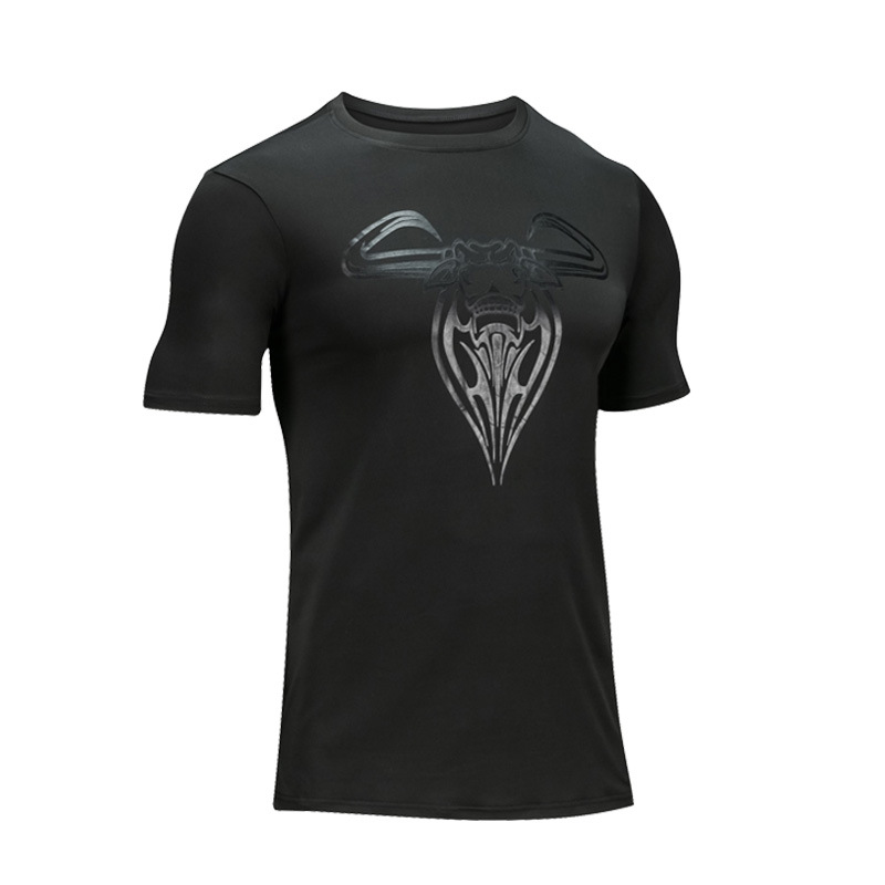 Objective Men's Gym Shirt Compression Running Jersey Short Sleeve Tight Shirts Breathable Basketball Soccer Fitness Sport Gym T-shirts