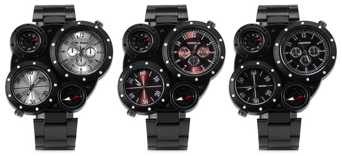 Design Retro Watch With Compass & Thermometer 1