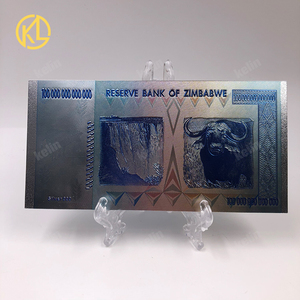 Image 3 - Hot Sale 1000 Pieces Colorful Sivler/Gold Foil Banknote Zimbabwe Silver Banknote With Wood Box For Token fake Money