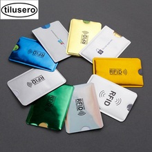 5PC 2019 Colorful Anti Rfid Credit Card Holder Bank Id Card Bag Cover Holder Identity Protector Case Portable Business Card H119