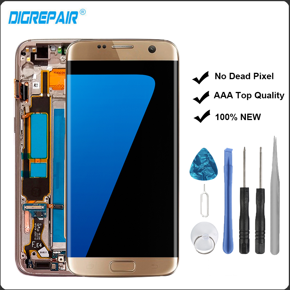Samsung Screen Us 167 84 20 Off Gold Lcd For Samsung Galaxy S7 Edge Sm G935f G935f Lcd Display Touch Screen Digitizer Frame Assembly Replacements S7 Edge Lcd In