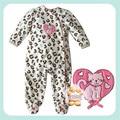 Продажа Новый год флиса ткани с длинными рукавами пакет одна часть ползунки ребенка комбинезон пижамы 12-2 leopard печати БЕСПЛАТНО ДОСТАВКА