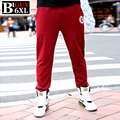 Plus Size 4xl 5xl 6xl Baggy Mens Joggers Sweat Pants Men Sweatpants Fashion 2016 Spring Male Sweat Pants Red Black 531PANT