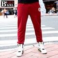 Plus Size 4xl 5xl 6xl Folgado Mens Basculadores Sweat Pants homens Suar Calças Moletom Moda 2016 Primavera do Sexo Masculino Preto Vermelho 531 PANT