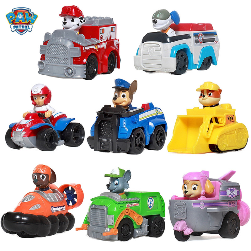 Paw Patrol Dog Canine Vehicle Cars Toy Patrulla Canina Action Figures Juguetes Rydel Marshall Skey Toys Kids Toys Gifts