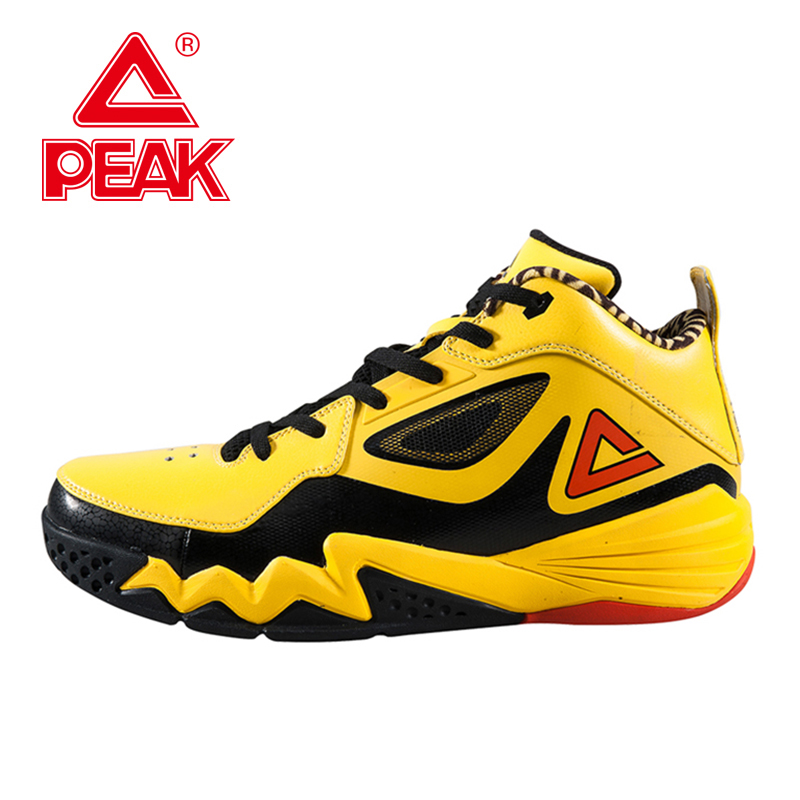 PEAK SPORT Monster II Men Basketball Shoes FOOTHOLD Tech Sneakers Breathable Training Athletic Durable Rubber Outsole Boots peak sport hurricane iii men basketball shoes breathable comfortable sneaker foothold cushion 3 tech athletic training boots