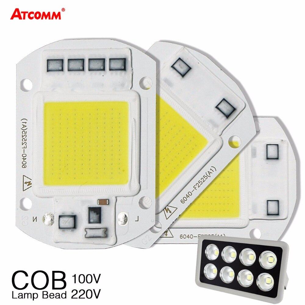 20 Вт 30 Вт 50 Вт высокое Мощность интегрированный чип COB лампы 110 В 220 В матрица Светодиодный прожектор DIY проектор прожектор открытый уличный лампада