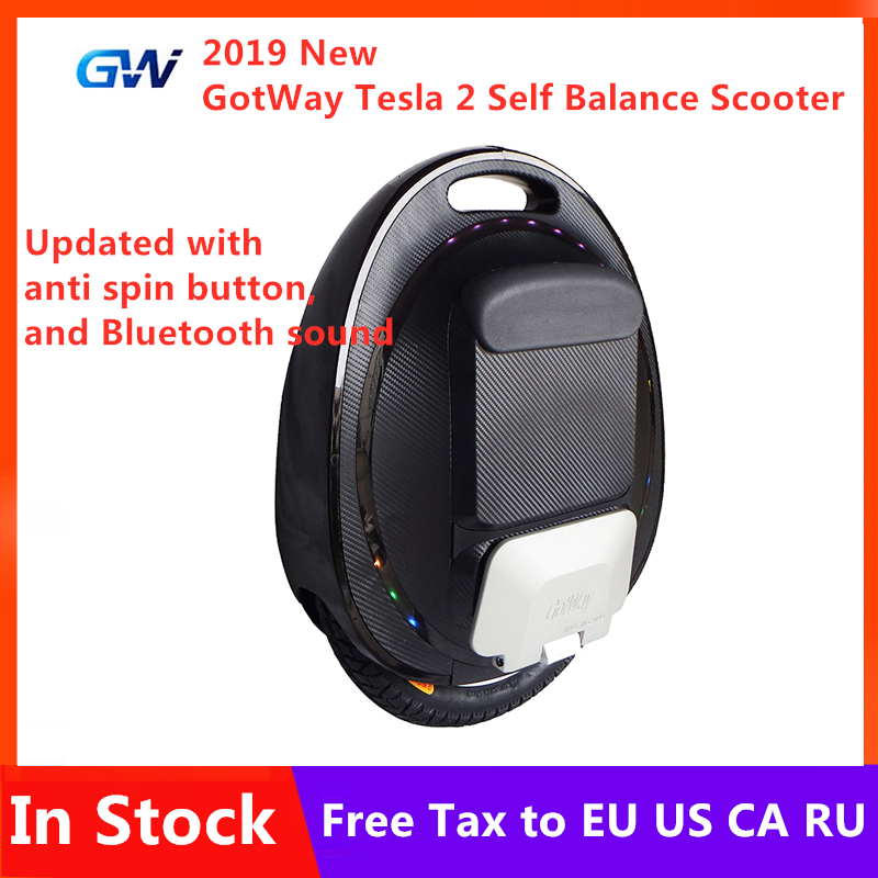 Upgraded GotWay Tesla 2 Unicycle Self Balancing Scooter 84V 1020WH Battery 2000W Motor 16