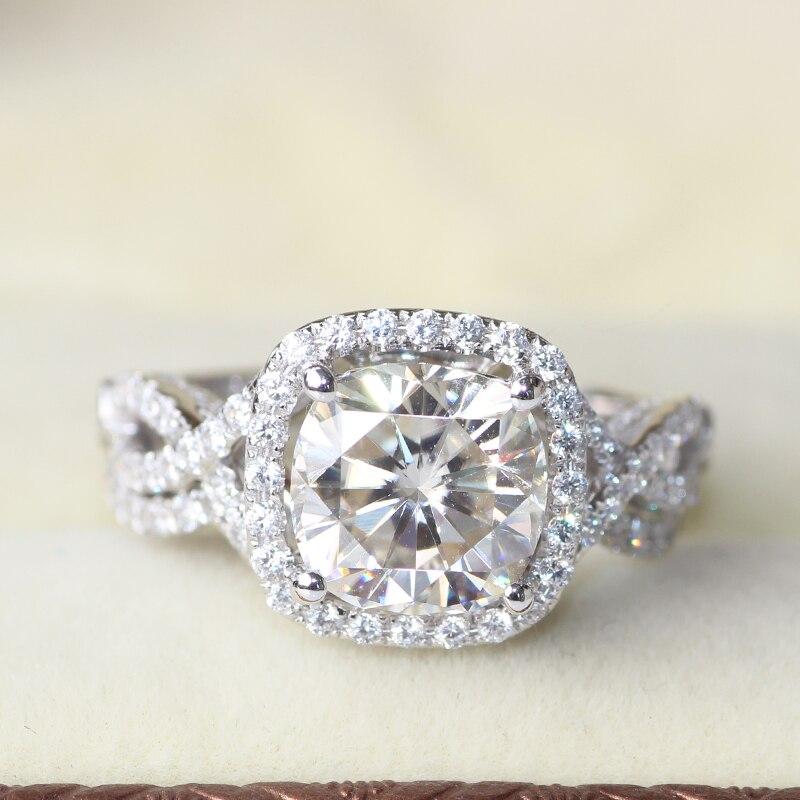 3 carat cushion cut halo wedding engagement wedding lab
