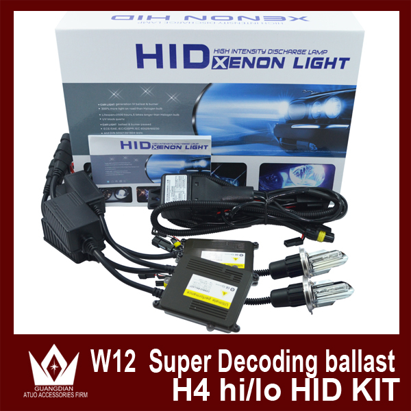 ФОТО Night Lord HID xenon kit W12  super canbus Slim Ballast 35W 12V HID H4 Swing angle lamp H4  HID Bi Xenon Beam Free shipping!!