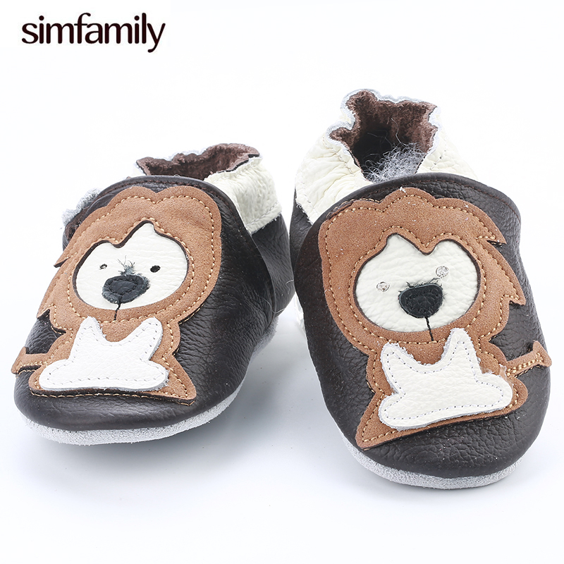 [simfamily]NEW Genuine Cow Leather Baby Moccasins Soft Soled Toddlers Infant Baby Shoes Boys Girls Newborn Shoes First Walkers
