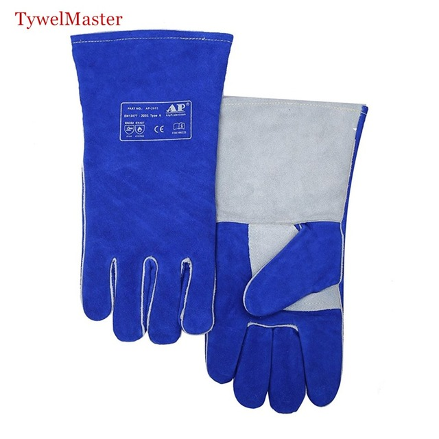 Welding Gloves Premium Quality Split Cowhide Glove Double leather reinforced Leahter Palm KEVLAR Stitched Wing Thumb CE UL