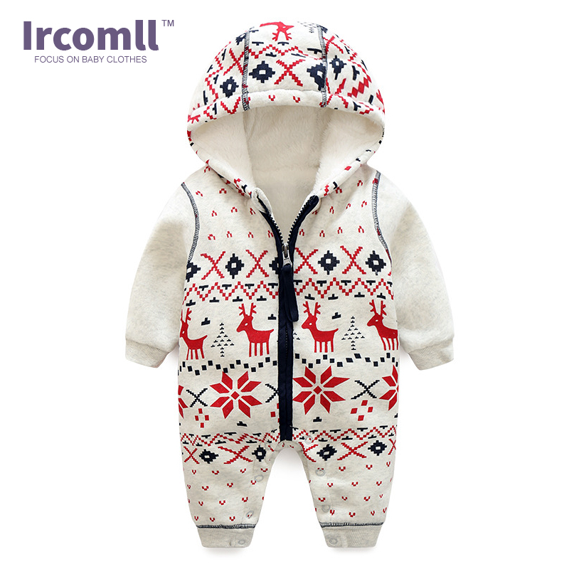 Winter New Thick Christmas Baby Boy Clothes Newborn Baby Warm   Rompers   Infant Outerwear Christmas Gifts Children's Clothing Jumps